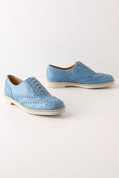 Unconventional Oxfords, Blue - StyleSays
