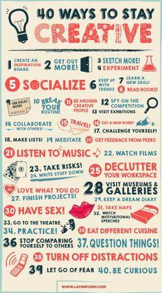 40 manières pour rester créatif