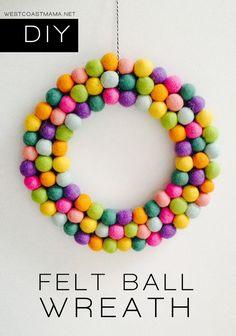 felt ball wreath tutorial