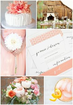 Rustic, country chic and peach wedding inspiration featuring romantic calligraphy invitations - http://www.shineweddinginvitations.com/wedding-invitations/flowing-script-wedding-invitations