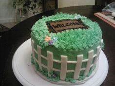 Double Chocolate Housewarming Cake #welcome #home #fondant