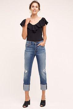 Level 99 Morgan Cuffed Jeans - anthropologie.com