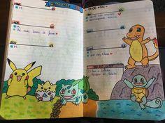 Des Pokémons dans mon Bullet Journal