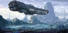 Sci-fi Spaceships — cinemagorgeous: Sci-fi concept art by Mark Li. Space Ship Concept Art, Concept Ships, Spaceship Art, Spaceship Design, Space Fantasy, Sci Fi Fantasy, Cosmos, Starship Concept, Sci Fi Spaceships