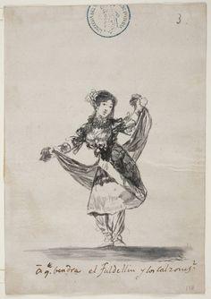 ** Francisco de Goya, A que vendra el faldellin y los calzones? (1808-1814). Museo del Prado. Pincel y aguada de tinta china. -similar 4