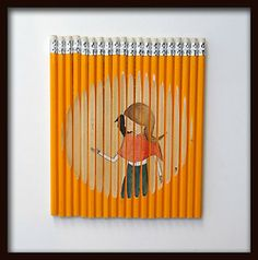 A Row of Pencils by ghostpatrol | Doodlers Anonymous on Tumblr