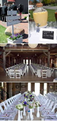 Love this. So Rustic and Charming. Plus, purple flowers rock my face off.