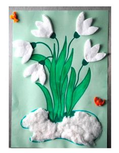 frühling kindergarten You are in the right place about kindergarten art projects easy H Spring Activities, Craft Activities For Kids, Preschool Crafts, Easter Crafts, Christmas Crafts, Spring Crafts For Kids, Diy For Kids, Kindergarten Art Projects, Kindergarten Decoration
