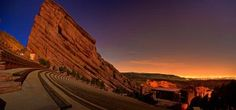 Red Rocks Amphitheatre at dusk