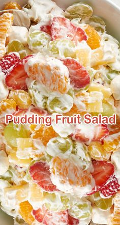 Pudding Fruit Salad