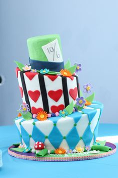 Whimsical Alice Cake by Buttercream Designs