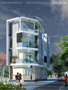 Duplex House Design, Small House Design, Modern House Design, Modern Houses, Residential Building Design, Home Building Design, Building A House, 2bhk House Plan, Narrow House Plans