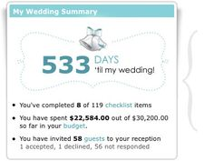 Online Wedding Planner  (includes a countdown to the day!)