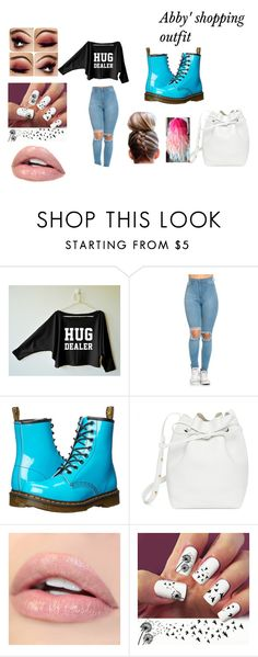 """""""Abby's shopping outfit"""" by lolo-cdx ❤ liked on Polyvore featuring Dr. Martens and Mansur Gavriel"""