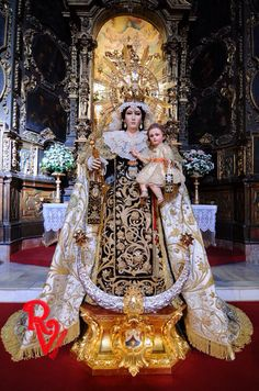 VIRGEN de la ALEGRIA. COFRADÍA DE ESPAÑA Catholic Art, Catholic Saints, Religious Art, Blessed Mother Mary, Blessed Virgin Mary, Guardian Angel Images, La Madone, Images Of Mary, Queen Of Heaven