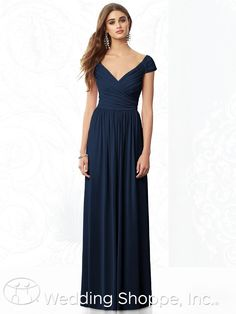 This cap sleeve bridesmaid dress is flattering and comfortable.