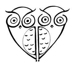 Owl heart tattoo