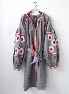 Ukrainian Vyshyvanka Vita Kin Style Embroidered Dress by Hawwh