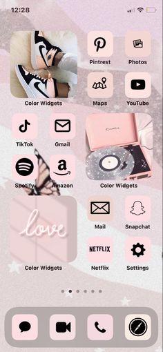 Purple Wallpaper Phone, Iphone Wallpaper App, Iphone Home Screen Layout, Love Mail, Ios Phone, Ios Design, App Covers, City Aesthetic, Ios App