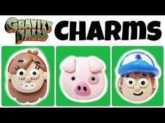 DIY Gravity Falls EASY Polymer Clay Charms Tutorial - YouTube