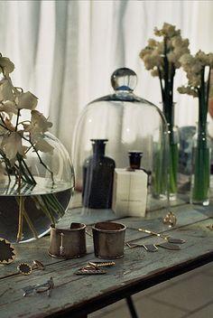 make-up under bell jar
