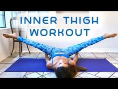 Slim Legs & Inner Thighs Workout for Beginners, 20 Minute At Home Fitness , Thigh Gap Tone Up - YouTube