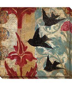 @Overstock - Artist: Judy PaulArt style: contemporaryCanvas art format: squarehttp://www.overstock.com/Home-Garden/Judy-Paul-Black-Birds-Wrapped-Canvas-Art/2576741/product.html?CID=214117 $123.99