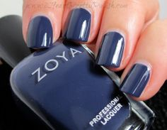 You really can't go wrong with Zoya. Navy Nail Polish, Nail Polish Blog, Navy Nails, Nail Polish Colors, Mani Pedi, Manicure And Pedicure, Vip Nails, Fabulous Nails, Beauty Nails