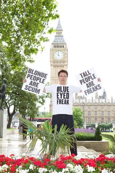 'What if it were illegal for you to be you?' - John Barrowman is cute all the time, even when he's protesting.