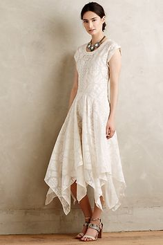 Embroidered Palena Dress - Perfect asymmetrical dress for a Bohemian style engagement session!