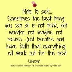 Note to self…Oct. 9th