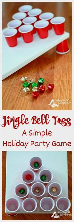 Looking for an indoor, active holiday party game? Set up Jingle Bell Toss! You can make this game in less than 5 minutes for less than $5 in materials! Perfect for preschool and elementary school Christmas parties... maybe even adult holiday parties too! #christmasIdeas School Christmas Party, Preschool Christmas, Noel Christmas, Family Christmas, Winter Christmas, Preschool Family, Disneyland Christmas, Hygge Christmas, Christmas Markets