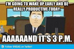 On daily productivity.