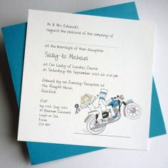 motorcycle wedding invitations - Google Search