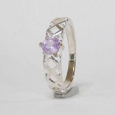 Top Round Light Purple Natural Amethyst in Silver Ring Light Purple, Amethyst, Gemstone Rings, Etsy Seller, Fine Jewelry, Silver Rings, Gemstones, Natural, Top