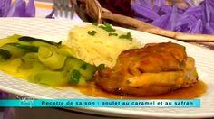 """Recette de saison : poulet au caramel et au safran  """"Météo à la carte"""", le seul magazine quotidien, en direct, consacré à la météo et à ses implications dans notre vie de tous les jours. Météo à la carte - France 3"""