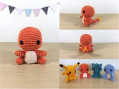 Patron Amigurumi Crochet : Salamèche – Made by Amy