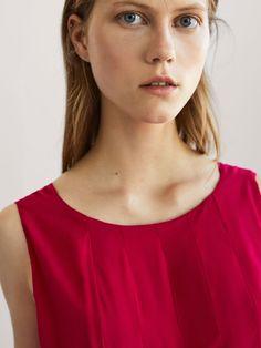 SUKIENKA Z ZASZEWKAMI - Kobieta - Massimo Dutti Spring Summer 2018, Ladies Dresses, Women