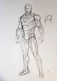 Iron Man Extremis Armour Mark II by Adi Granov (Sideshow Collectibles) Comic Art Marvel Concept Art, Iron Man Art, Avengers Art, Arte Dc Comics, Iron Spider, Armor Concept, Anime Comics, Cartoon Drawings, Comic Art