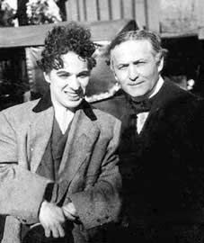 "Charlie Chaplin & Houdini. ""All my pictures are built around the idea of getting in trouble & so giving me the chance to be desperately serious in my attempt to appear as a normal little gentleman."" (Chaplin). . .""My professional life has been a constant record of disillusion, & many things that seem wonderful to most men are the every-day commonplaces of my business."" (Houdini)"