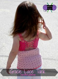 The Gracie Lace Tank will go great with Jeans, Skirts, and Leggings alike. Coordinate the colors to go with your favorite girl's favorite bottoms or to go under her favorite sweater. This tank top has many options: It can be reversed, you can choose whether to tie it in the front or leave a big bow in the back, or you can lengthen it to become a dress. http://www.ravelry.com/patterns/library/gracie-lace-tank $5.99