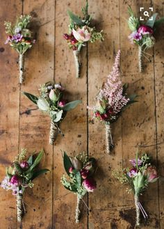 Grooms Boutonniere - first horizontal row in the middle (pink one)