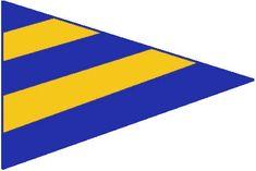 New York Yacht Club Burgee Flag Cloth Sewn Vintage Yacht