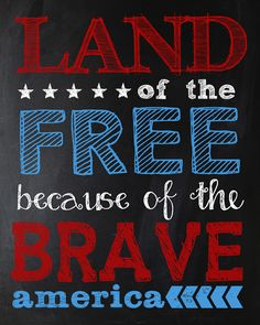 Land of the free because of the brave. #USA