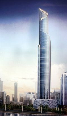 The CTF Guanzgou Tower, former The Chow Tai Fook, China designed by Kohn Pedersen Fox Associates Architects Guangzhou :: 111 floors, height 530m