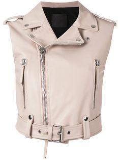 Giuseppe Zanotti Design sleeveless biker jacket