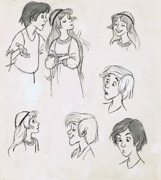 Fabulous Taran and Eilonwy sketches by #MiltKahl
