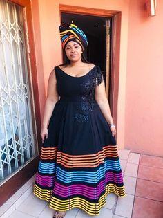 African Wedding Attire, African Attire For Men, African Dresses For Women, African Fashion Dresses, South African Traditional Dresses, Traditional Outfits, Xhosa Attire, Shweshwe Dresses, African Children