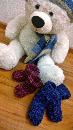 Arkimamman Arkiralli: Huggi-tossut vauvalle Teddy Bear, Toys, Gaming, Games, Toy, Teddybear, Beanie Boos