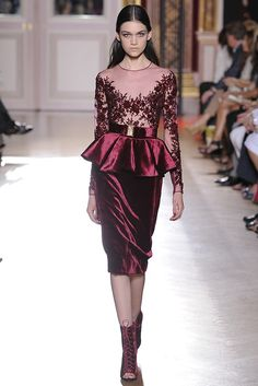 More wine. This time in #velvet. Zuhair Murad Fall #Couture 2012 - Runway, Fashion Week, Reviews and Slideshows - WWD.com (Photo by Dominique Maitre)